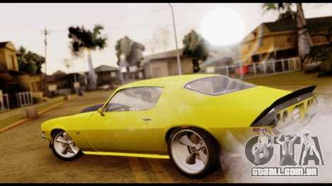 Chevrolet Camaro Z28 Special Edition para GTA San Andreas esquerda vista
