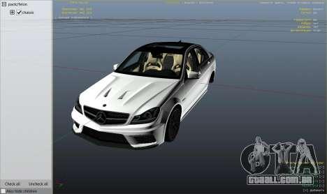 GTA 5 Mercedes-Benz C63 AMG v2 vista lateral direita