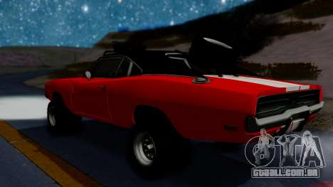 Dodge Charger 1969 Rusty Rebel para GTA San Andreas traseira esquerda vista