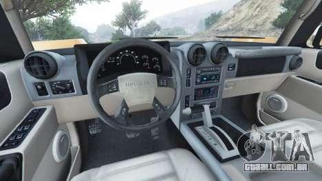 GTA 5 Hummer H2 2005 traseira direita vista lateral