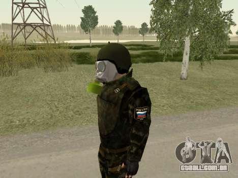 Os soldados russos na máscara de gás para GTA San Andreas segunda tela
