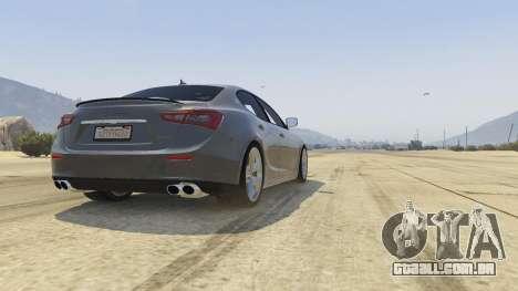 GTA 5 Maserati Ghibli S voltar vista