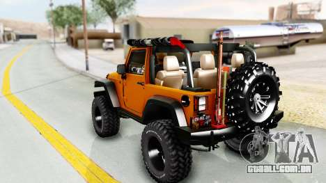 Jeep Wrangler Off Road para GTA San Andreas esquerda vista