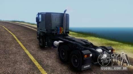 Iveco EuroTech v2.0 Cab Low para GTA San Andreas traseira esquerda vista