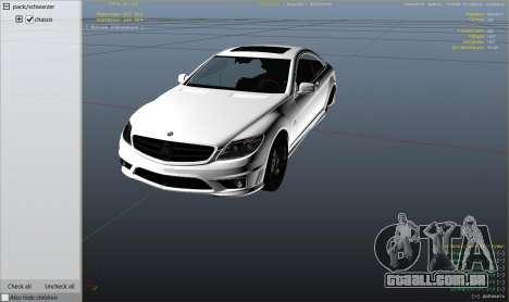 GTA 5 2010 CL65 Mercedes-Benz AMG vista lateral direita