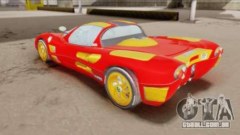 Ferrari P7-2 Iron Man para GTA San Andreas traseira esquerda vista