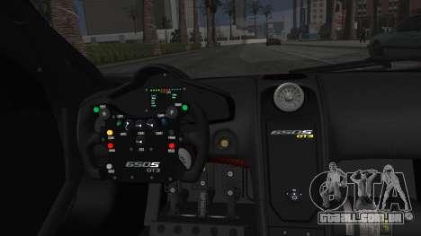 McLaren 650S GT3 2015 Minami Kotori GGSR para GTA San Andreas vista traseira