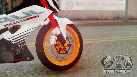 Honda Sonic 150R KingLivery para GTA San Andreas traseira esquerda vista