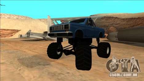 Bobcat Monster Truck para GTA San Andreas vista interior