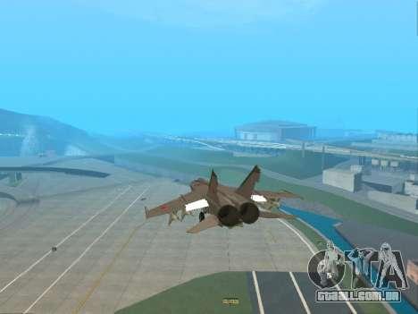 O MiG 25 para vista lateral GTA San Andreas