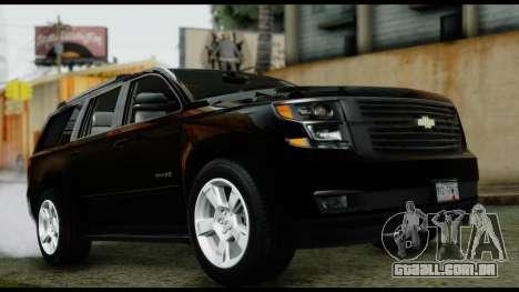 Chevrolet Tahoe 2015 para GTA San Andreas vista direita
