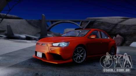 Mitsubishi Lancer Evolution X Tunable New PJ para GTA San Andreas vista interior