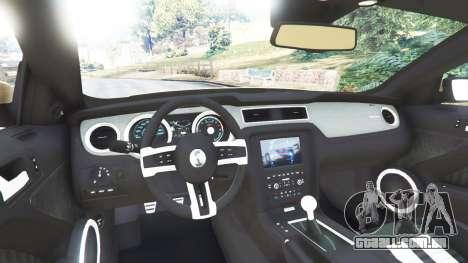 GTA 5 Ford Mustang Shelby GT500 2013 v2.0 traseira direita vista lateral
