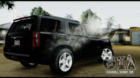 Chevrolet Tahoe 2015 para GTA San Andreas esquerda vista