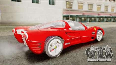 Ferrari P7 Chromo para GTA San Andreas traseira esquerda vista