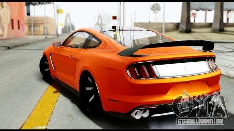 Ford Mustang Shelby GT350R 2016 para GTA San Andreas esquerda vista