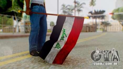Iraq Flag HD para GTA San Andreas terceira tela
