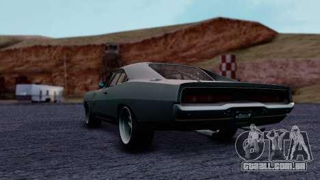 Dodge Charger RT 1970 FnF7 para GTA San Andreas esquerda vista