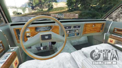 GTA 5 Cadillac Fleetwood Brougham 1985 [rusty] traseira direita vista lateral
