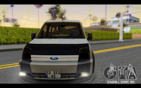 Ford Connect Rizeli para GTA San Andreas vista traseira