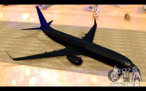 Boeing 737-800 American Airlines para GTA San Andreas esquerda vista