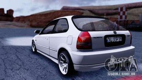 Honda Civic 1.6 Hatchback para GTA San Andreas esquerda vista