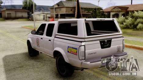 Nissan Frontier ABS CBN para GTA San Andreas esquerda vista