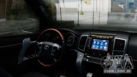 Toyota Land Cruiser 200 2016 Bulkin Edition para GTA San Andreas vista direita