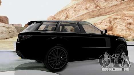 GTA 5 Gallivanter Baller LE IVF para GTA San Andreas traseira esquerda vista