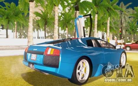 Lamborghini Murcielago 2005 para GTA San Andreas vista superior
