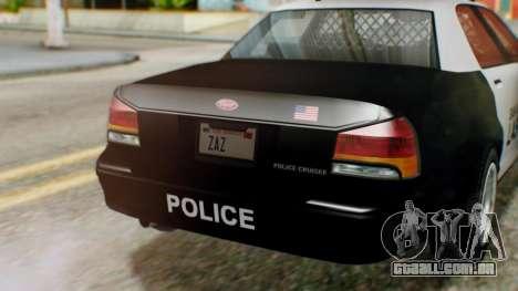 GTA 5 Police LV para GTA San Andreas vista direita