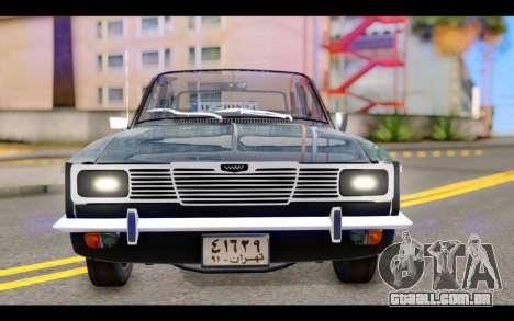 Peykan 1347 Classic para GTA San Andreas vista traseira