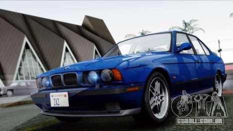 BMW M5 E34 US-spec 1994 (Full Tunable) para GTA San Andreas esquerda vista