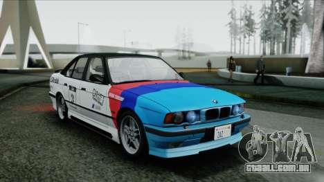 BMW M5 E34 US-spec 1994 (Full Tunable) para GTA San Andreas vista traseira