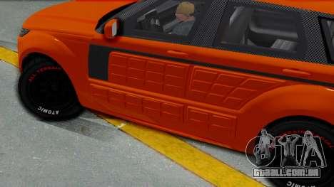 GTA 5 Gallivanter Baller LE Arm IVF para GTA San Andreas traseira esquerda vista