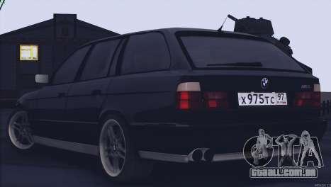 BMW M5 E34 Touring 1995 para GTA San Andreas vista direita