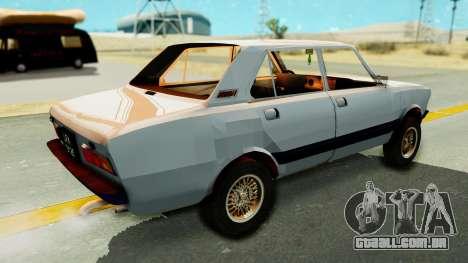 Fiat 132 para GTA San Andreas traseira esquerda vista