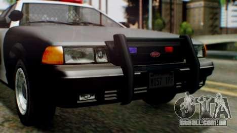 GTA 5 Police LV para GTA San Andreas vista interior