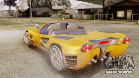 Ferrari P7 Cabrio para GTA San Andreas esquerda vista