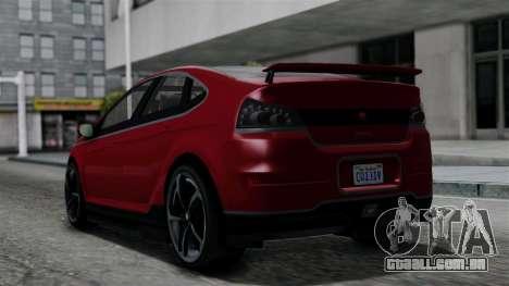 GTA 5 Cheval Surge IVF para GTA San Andreas esquerda vista