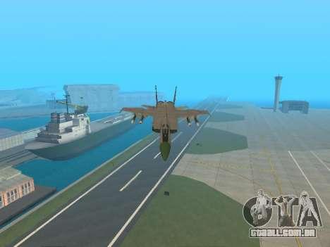O MiG 25 para GTA San Andreas vista superior