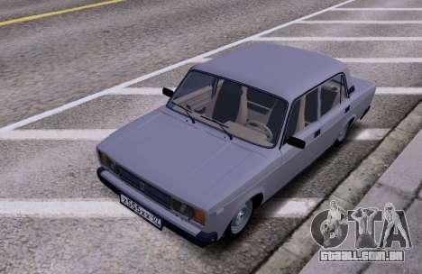 VAZ 2105 KBR para GTA San Andreas traseira esquerda vista