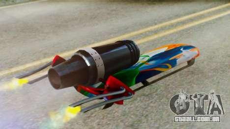 Flying Hovercraft New Skin para GTA San Andreas vista direita