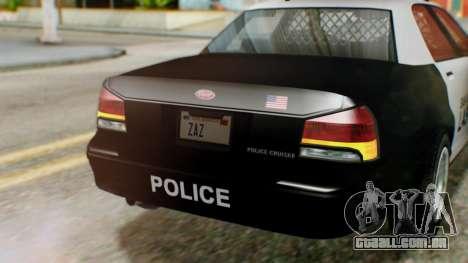 GTA 5 Police LV para GTA San Andreas vista traseira