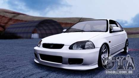Honda Civic 1.6 Hatchback para GTA San Andreas vista direita