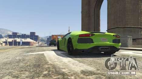 GTA 5 Lamborghini Aventador LP700-4 v.2.2 frente vista lateral direita