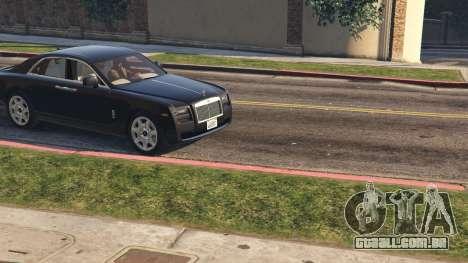 GTA 5 Rolls Royce Ghost 2014 voltar vista