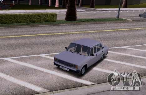 VAZ 2105 KBR para GTA San Andreas vista traseira