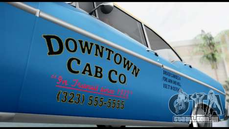 GTA 5 Declasse Cabbie v2 para GTA San Andreas traseira esquerda vista