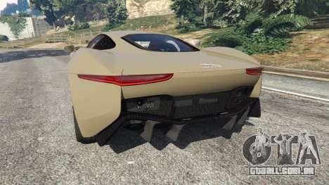 GTA 5 Jaguar C-X75 traseira vista lateral esquerda